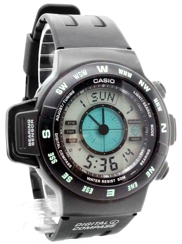 Casio - CPW-100-1AV - Montre Homme - Quartz Digitale - Chronomètre/Alarme/Boussole&GPS - Bracelet Caoutchouc Noir: Amazon.fr: Montres
