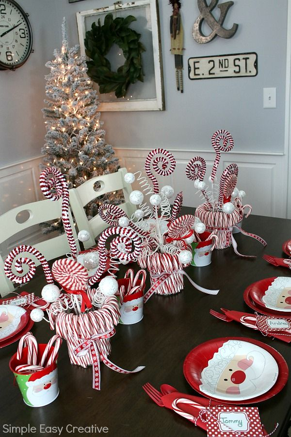Christmas Table Centerpieces Diy Christmas Decorations Easy Christmas Table Decorations Easy Christmas Diy