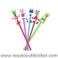 Lápices madera animales, personalizados con el logo de su empresa, baratos, para regalos de empresa, eventos, campañas de marketing y publicidad