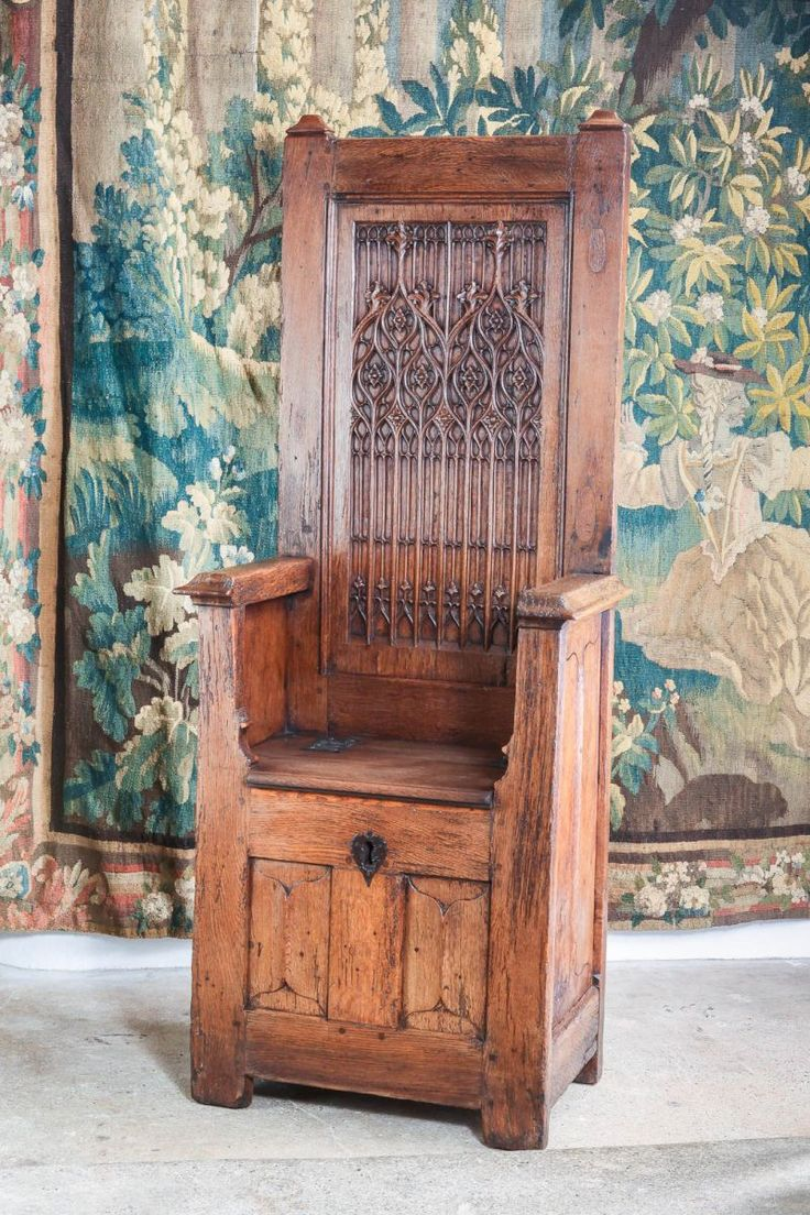 Elegant Gothic Throne Chair 15th Century, Marhamchurch Antiques