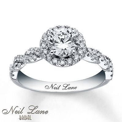 Neil Lane Engagement Ring 1 1/3 ct tw Diamonds 14K White Gold