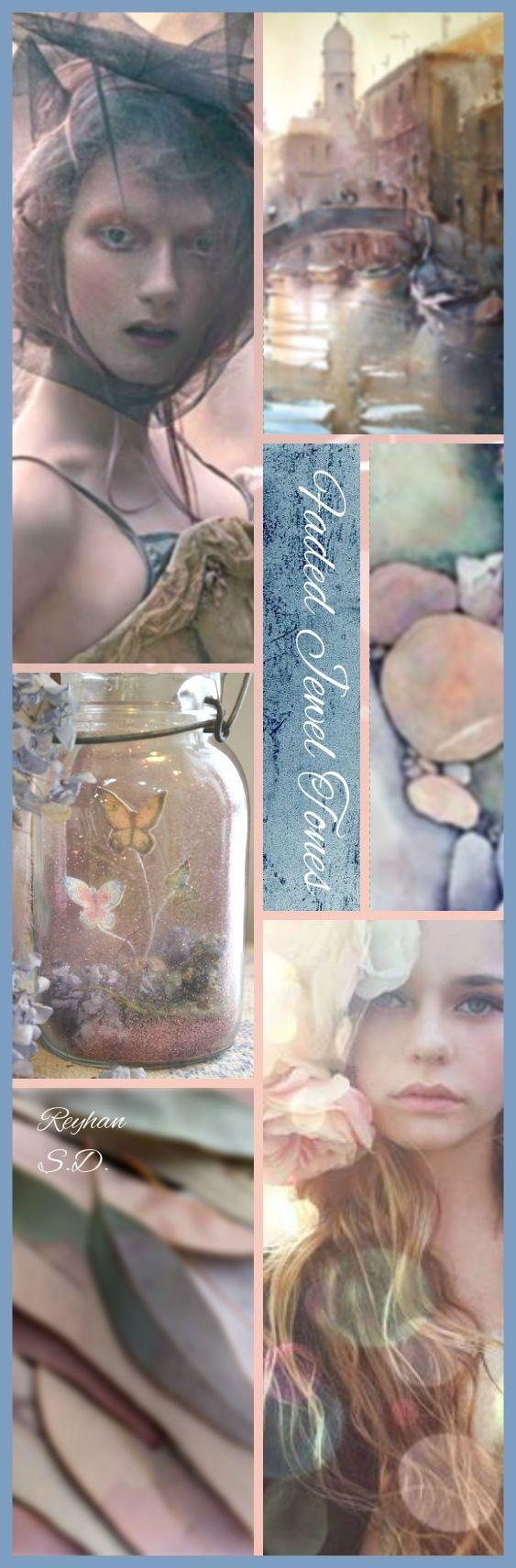 '' Faded Jewel Tones '' by Reyhan S.D.