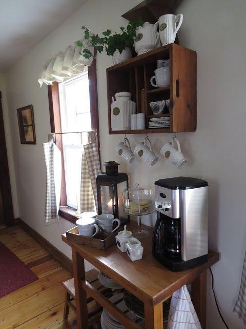 at home coffee bar home love pinterest. Black Bedroom Furniture Sets. Home Design Ideas