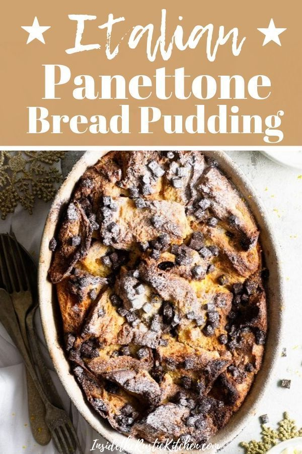 Mar 25, 2020 – Traditional bread pudding with a delicious Italian spin. Made with warming spices and chocolate chunks. S…
