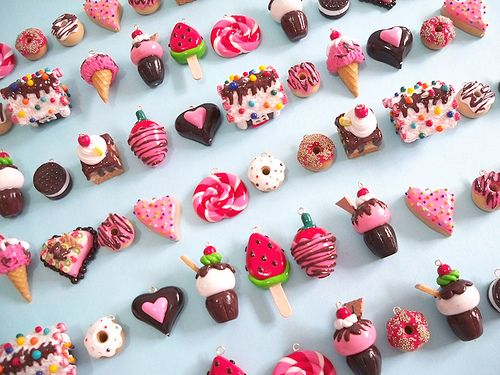 Many Yummy Polymer Clay Charms
