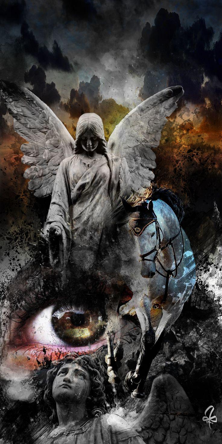 photoshop, collage, eye, horse, angle, Burtscher N.