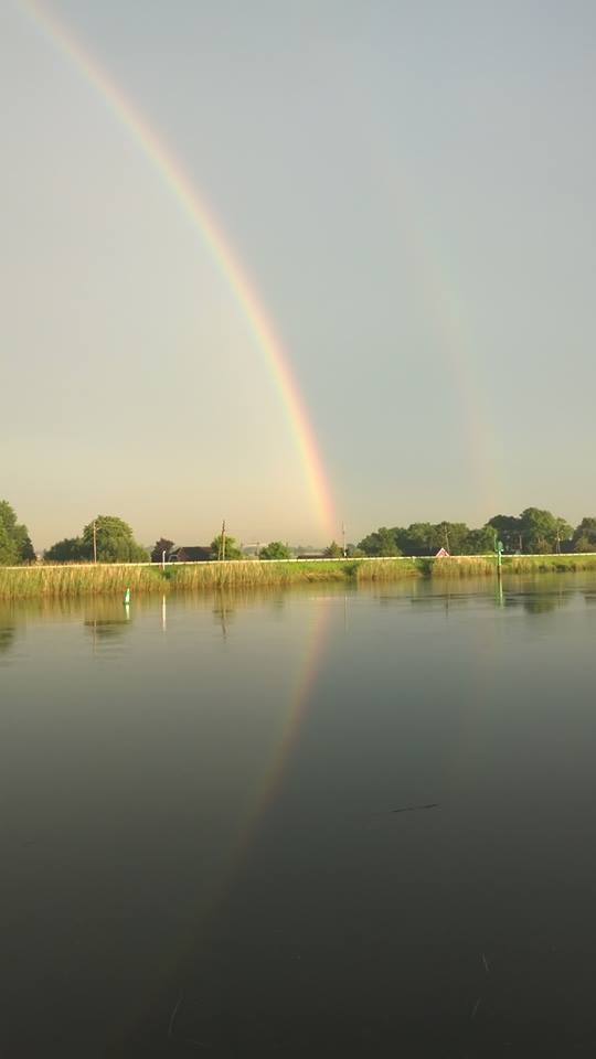 Regenboog 23 juni 2016, 21.15 uur Moordrecht, Hollandse IJssel.