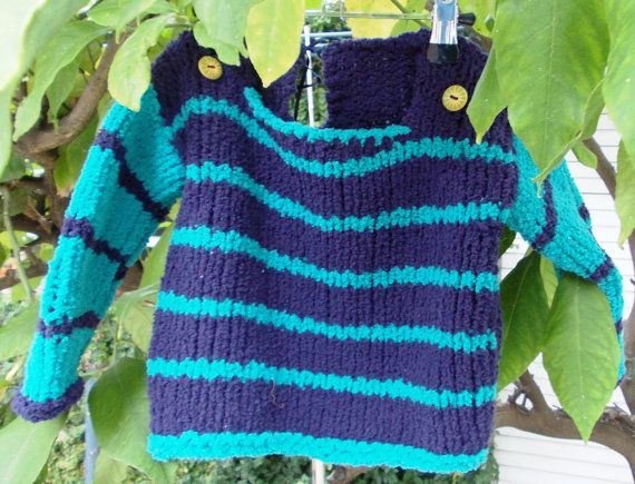 Knit 1 year old sweater with  machine washable by Puntdarros