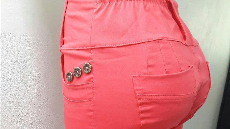 Pantalon Levanta Cola Colombiano Molde Pretina curva Anatómica