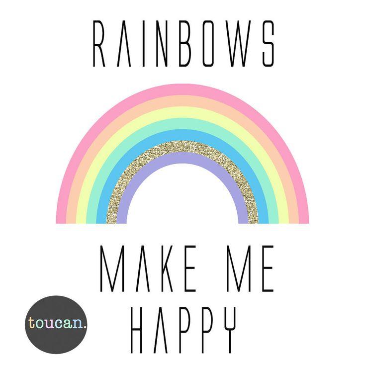 Rainbows make me happy - toucan