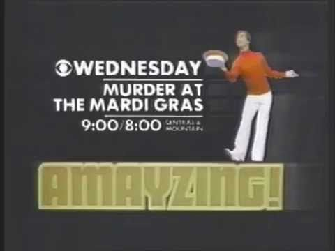 """Murder At The Mardi Gras 1978 CBS Amayzing Movie Promo  CBS """"AMayzing"""" promo for the Wednesday May 10, 1978 made-for-TV movie """"Murder At The Mardi Gras"""" starring Didi Conn and Dave Groh"""