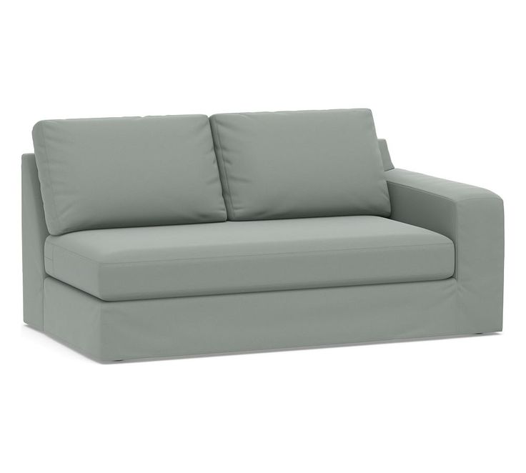Big Sur Square Arm Right Arm Loveseat With Bench Cushion