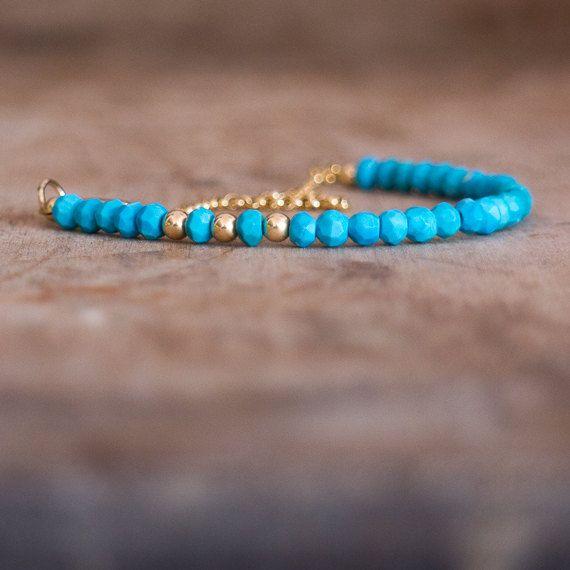 Turkoois armband met December Birthstone, Turkoois sieraden, edelsteen armband, goud, zilveren blauw steen armband, sierlijke Boheemse sieraden,