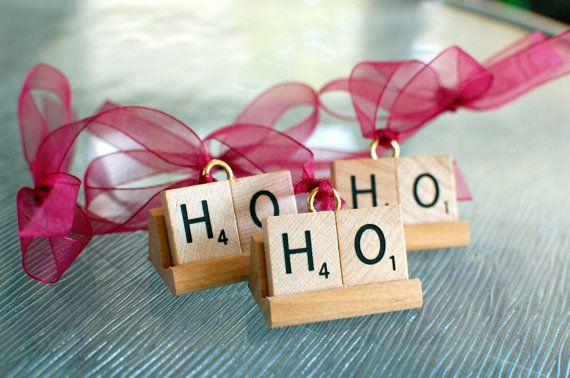 round up scrabble pieces at thrift stores for ornaments