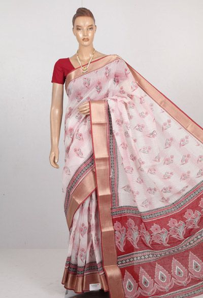 Buy Chanderi silk Cotton Sarees at Sundarisilks.com.