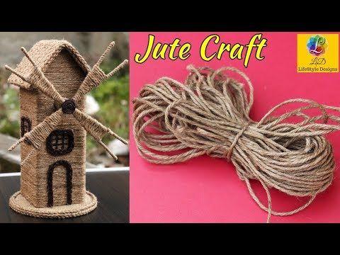 Diy Jute Craft Idea Jute Showpiece Reuse Of Waste Cardboard And