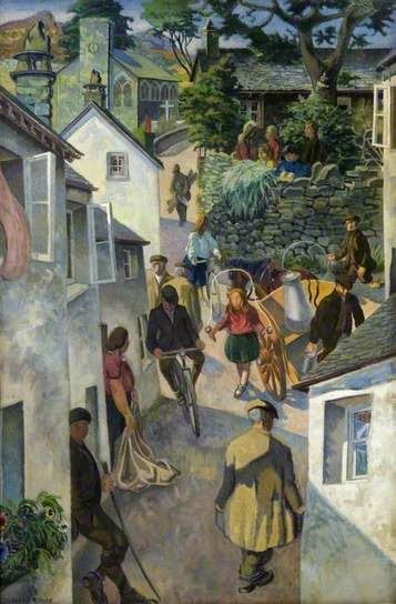 "Gilbert Spencer ""The School on Peggy Hill, Ambleside"" (1952"