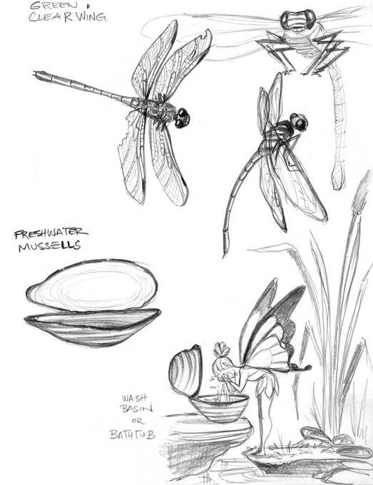 Tinkerbell 3 - Carolyn Gair - dragonflies washface