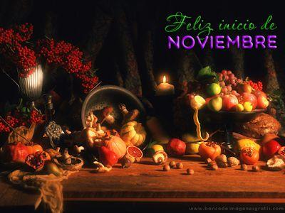 Bienvenido Noviembre - Postales con mensajes para Facebook   Banco de Imágenes, Fotos y Postales...