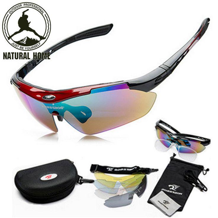 NaturalHome Brand Sports Bicycle Cycling Sunglasses 2016 Men Women MTB Bike Glasses Eyewear 5 Lens Oculos Ciclismo Gafas * Détails sur le produit peut être consulté en cliquant sur l'image