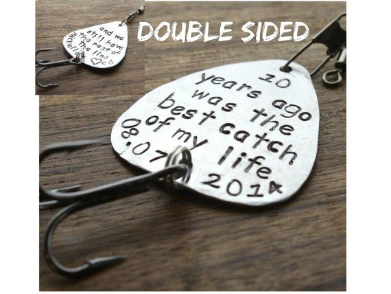 Personalized Anniversary Fishing Lure, Custom For Him Personalized, Gift Fishing Lure, Rest of the Line, Engraved For Him, Husband Gift