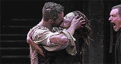 Oh that kiss.... Richard Armitage as John Proctor and Anna Madeley as Elizabeth Proctor. Sept 2014