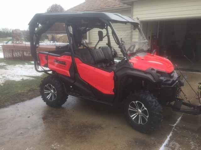 Used 2016 Honda PIONEER 1000-5 DELUXE ATVs For Sale in Illinois. Thanks for looking. Up for sale is my 2016 Honda Pioneer 1000-5 Deluxe. The machine has 563 miles and 55.7 hours. About 350 of the miles were put on in Hurley Wisconsin over two trips and the rest were put on around my house and the tri county trails as I tried to meet the break in hours/miles requirement. Needless to say, the machine was well taken care of and not ridden hard. However, in full disclosure, the plastics have the…