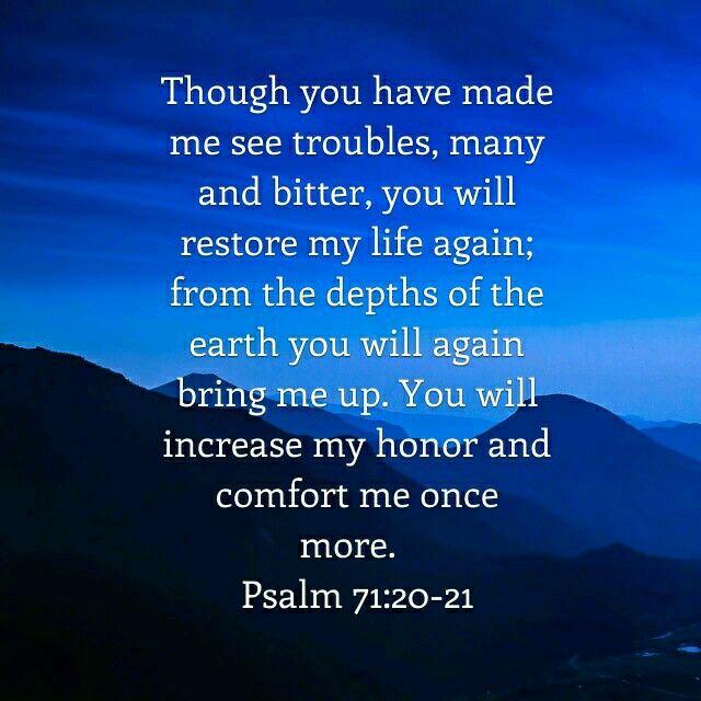 Psalm 71:20-21