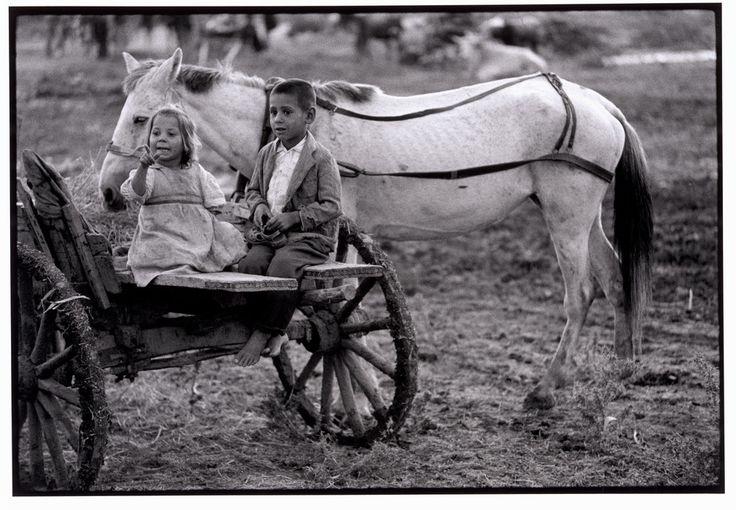 """Constantine Manos Greece. Thrace. 1964. Children in town on market day. """"A Greek Portfolio"""" p.50 © Costa Manos/Magnum Photos"""
