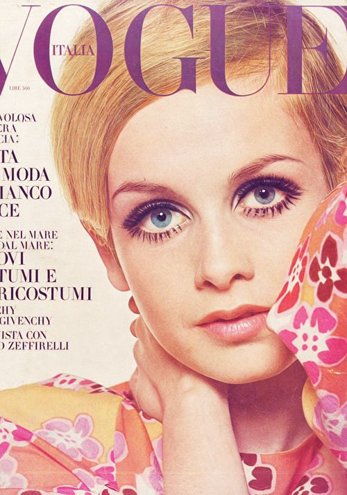 Twiggy - Vogue cover 1969s fashion photography, 1960s Vogue Covers, vintage fashion, swinging sixties, mid, Twiggy hair, Twiggy eyes, 1960s Lindon