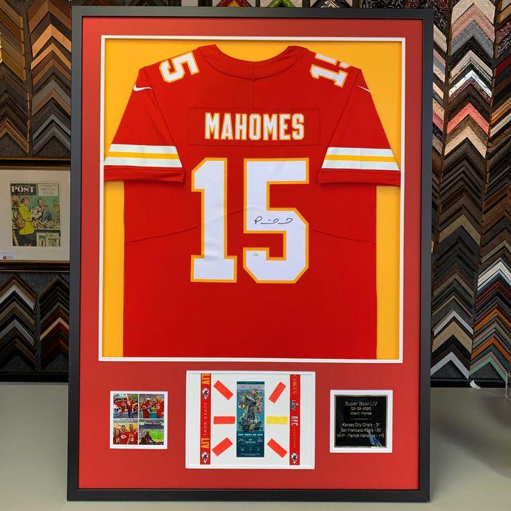 Custom framed Patrick Mahomes The Kansas City Chiefs