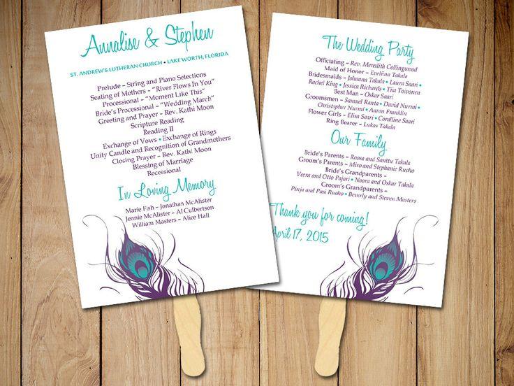 The 25+ best Diy wedding program fans ideas on Pinterest Fan - wedding program