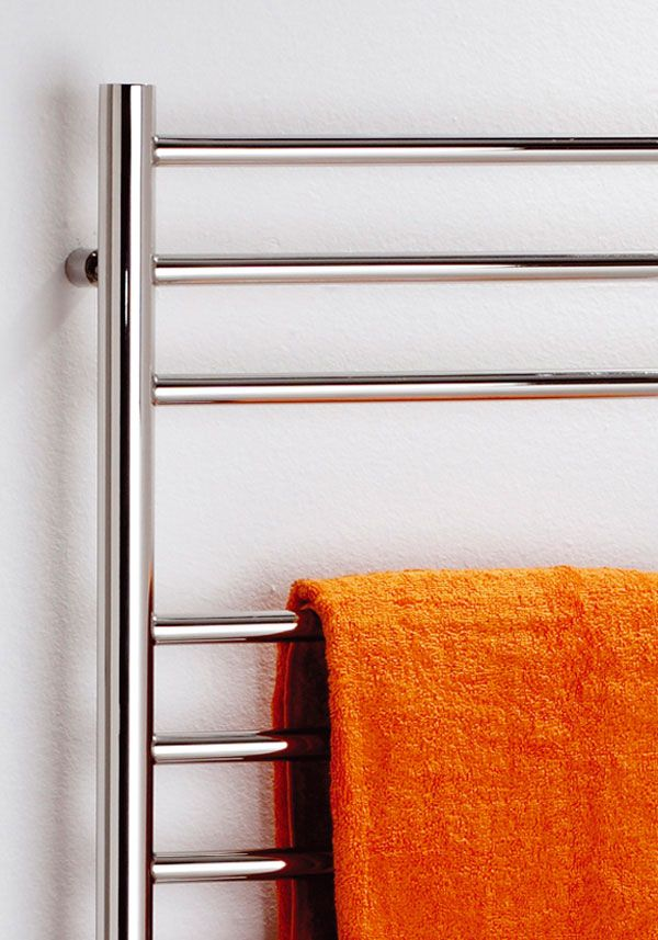 This best selling, perfectly polished stainless steel towel rail gives a fantastic finishing touch to your bathroom. Also available in an electric version.