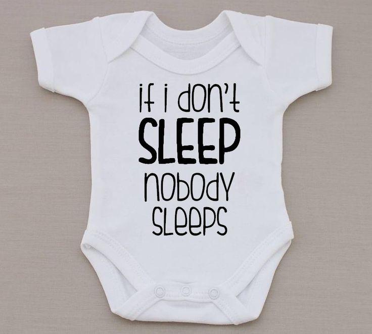 If I Don't Sleep Nobody Sleeps Funny Baby Vest / Bodysuit