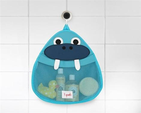 3 Sprouts Bath Storage - Walrus    Price: $44.95    Description:    3 Sprouts Walrus Bath Storage is the perfect spot for all your little one's bath stuff!    Made of the same mildew resistant material used for wetsuits, our bath storage keeps toys dry and your tub organized. The stretchy wide mouth makes grabbing those 'gotta find it now' toys a snap! Best of all, 3 Sprouts has included an easy to adhere, slip-proof suction cup which holds on tight to any tile or glass surface.