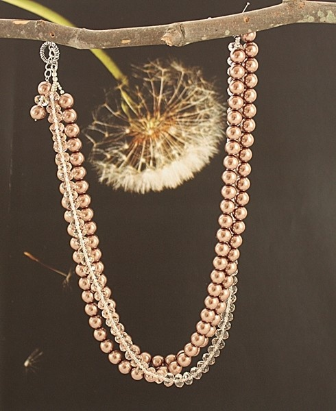 Crystal And Pearls 'Stream Of Hope' Necklace #jewelry #necklace #style #fashion