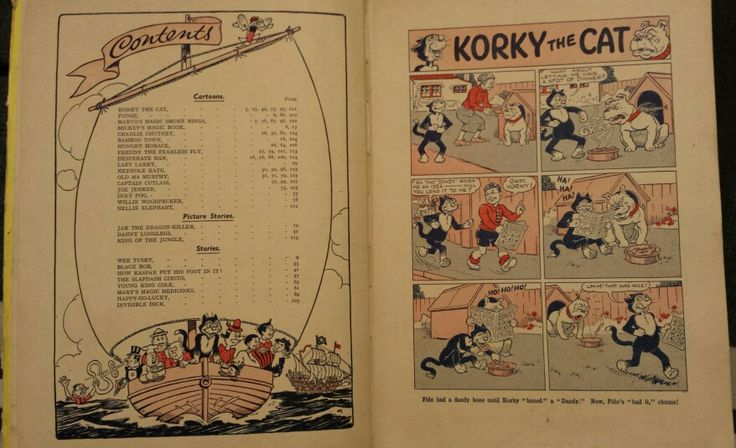 Contents page and first page (page number 5) of Dandy Monster Comic 1947.