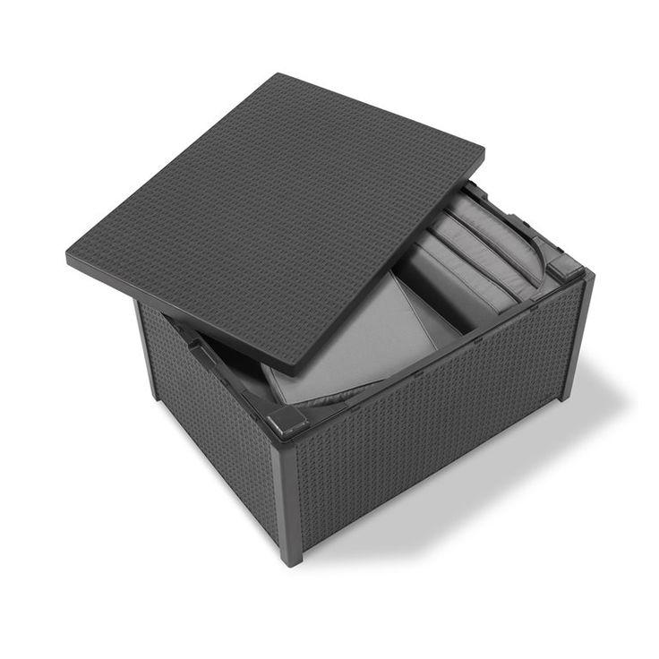 De Arica van Allibert kan als bijzettafel én opbergbox worden gebruikt. Zo kun je aan het einde van de dag al je tuinkussens compact opbergen, super handig! De tafel is gemaakt van stevig wicker, helemaal onderhoudsvrij en makkelijk te combineren.