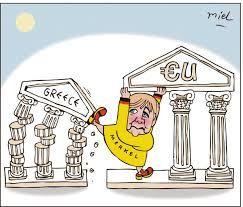Image result for Greece, Merkel, ruins