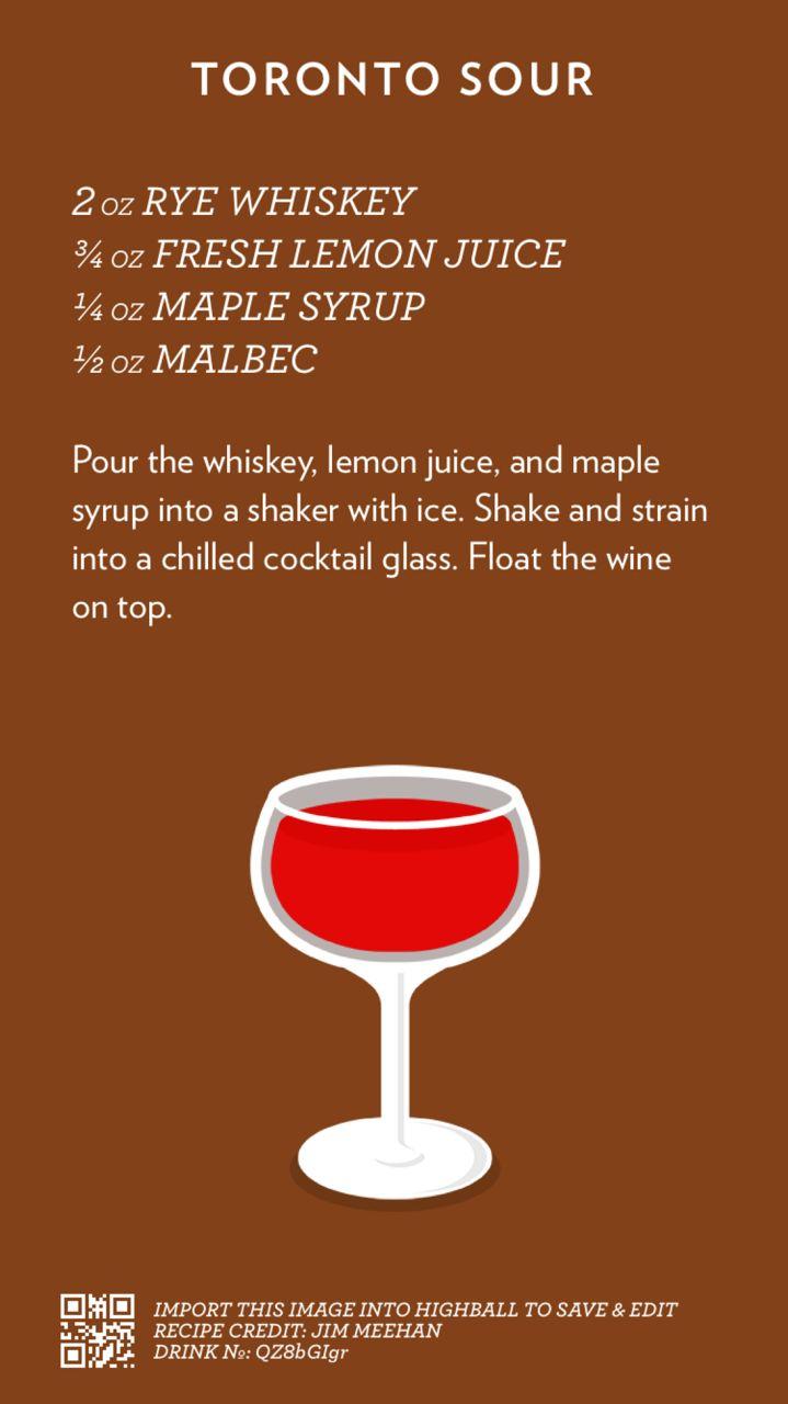 Toronto Sour   Cocktail Katalog #Cocktails #Whisky #Sorte #Wein #Malbec #Einfach – cheers