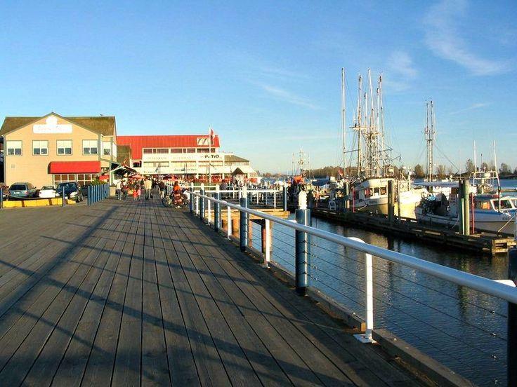 Docked Fishing boats in Steveston Richmond BC