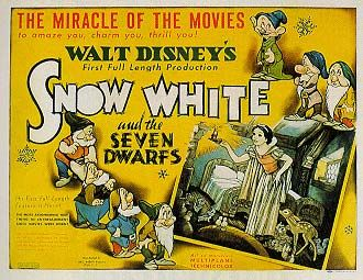 This movie poster for Snow White goes under the social category. This is because not only was it a popular film during the Great Depression, but it also highlights one of the ways to get money in this time: mining