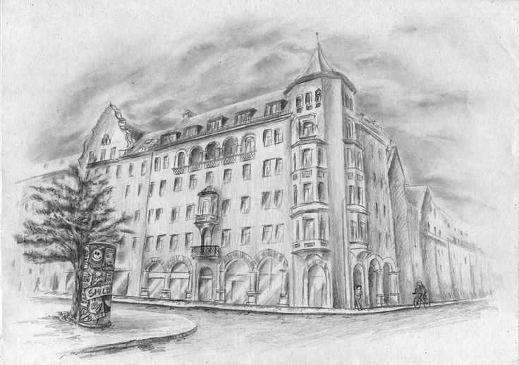 Häuser zeichnen lernen - Fassade Hauswand Schaufenster - Tutorial