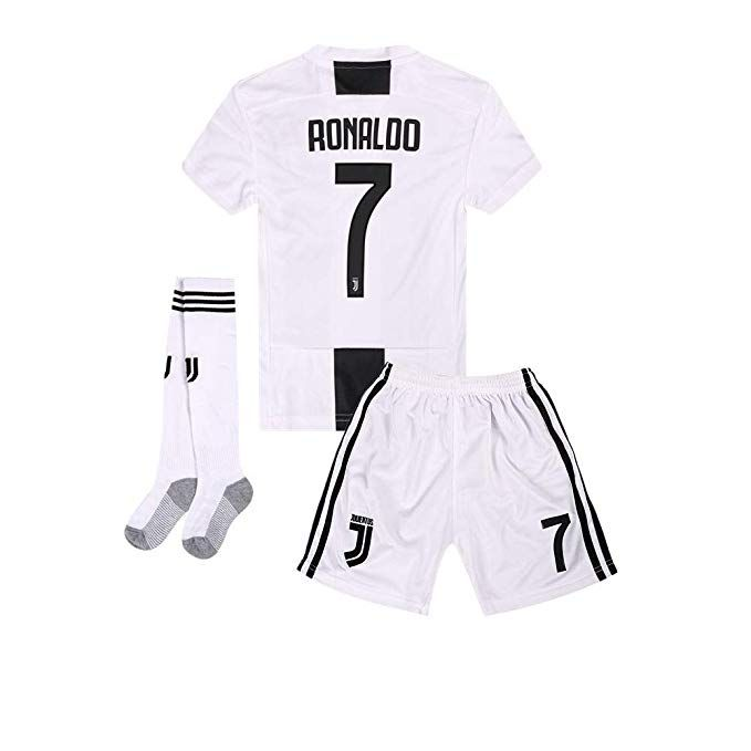a8a5284f508 2018-2019 Home C Ronaldo  7 Juventus Kids Or Youth Soccer Jersey   Shorts