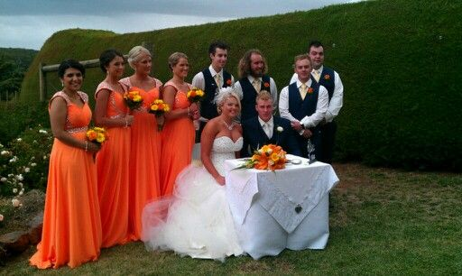 The beautiful bridal party