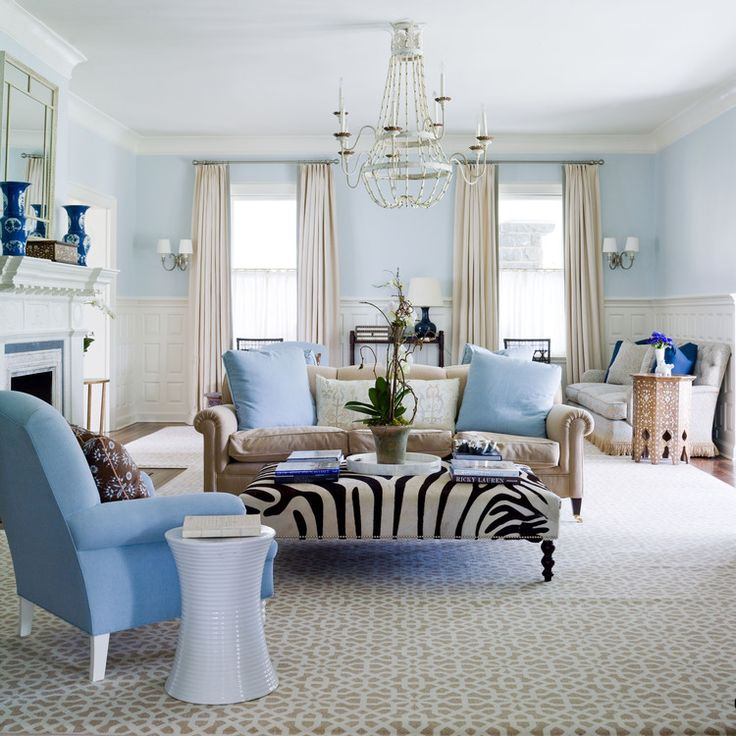 Designer: Lee Ann Thornton · Blue Living RoomsLiving ...
