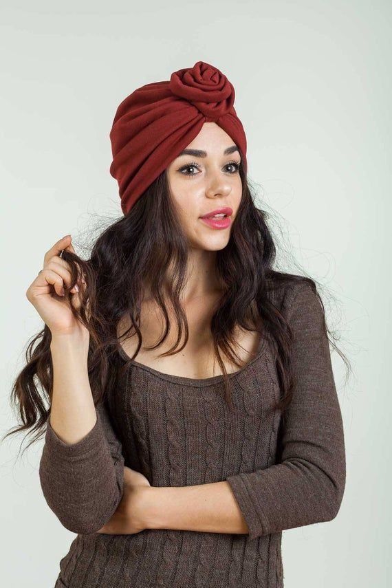 Flower Turban Hat 1940s Hat Spring Fashion Chemo Cap Skullcap Beach Hair Wrap Head Scarf Head Wrap B  – Products