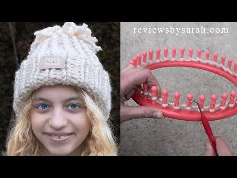 Loom Knitting For Beginners - How to Loom Knit Easy Snow Games Hat - with Naztazia - YouTube