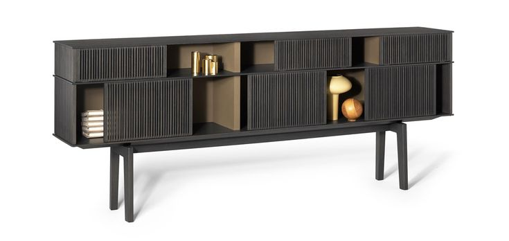 """Refined blinds - """"Lloyd"""" by Jean-Marie Massaud for Poltrona Frau. Like a fence, offering spaces to look through."""