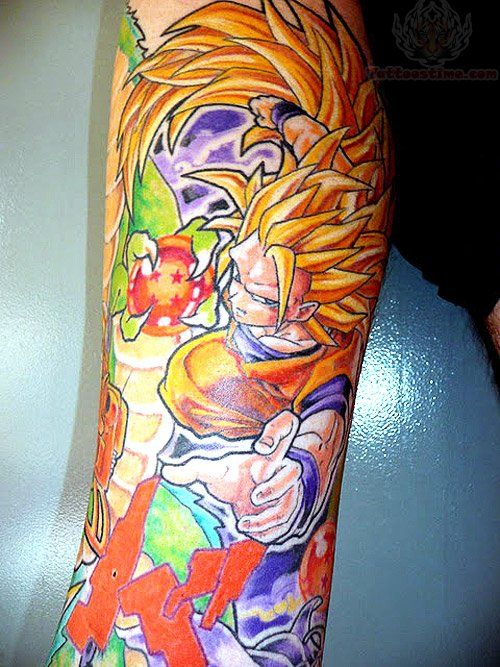 dragon ball colorful tattoo www.Hoggifts.com